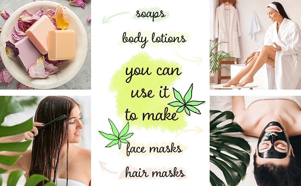 Pure Hemp Oi Organic Cold Presed UnrefinOil, Carr Oil for Essial ils Mixing, Hemp i Hair, Face, Skin