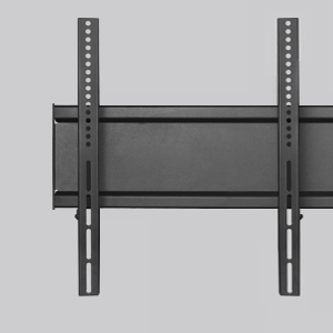 Double TV frame made of sturdy aluminum with universal VESA standards