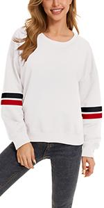 KINGFEN Women's Ultra Soft Oversized Long Sleeve Casual Sweatshirt Pullover