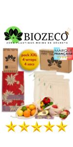 France reutilisable lavable reutilisables lavables zero dechet cuisine lot kit made in france beewax
