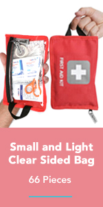 Thrive First Aid Kit Small and Light Clear Sided Bag