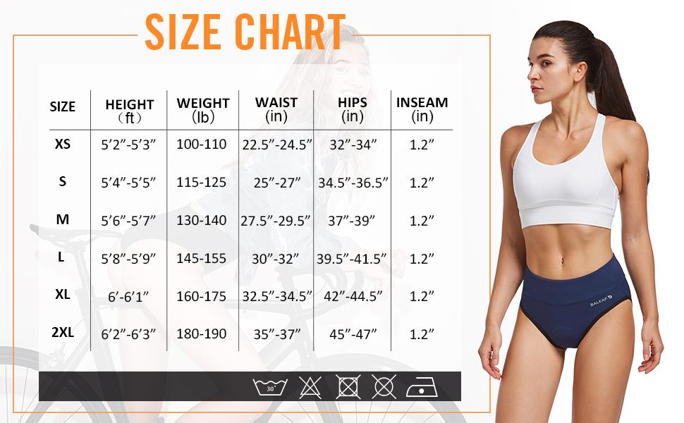 size chartsize chart
