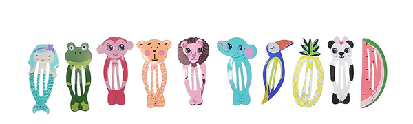 animal style kids hair clips