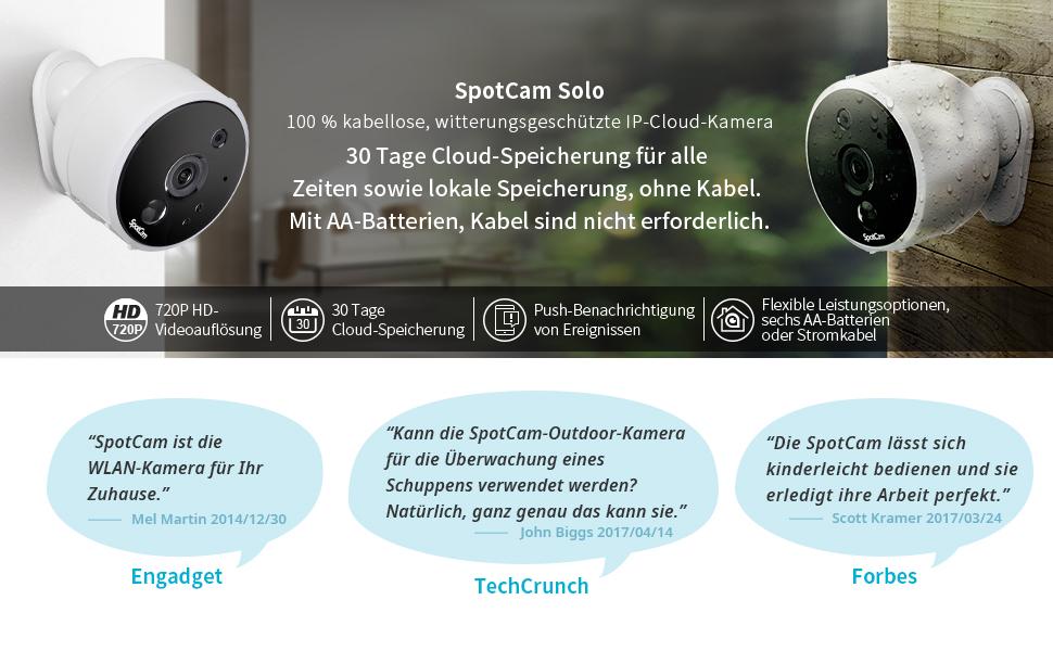 Spotcam Solo 720p Aa Batteriebetrieb Drinnen Elektronik