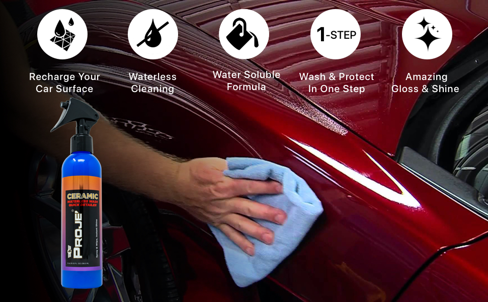 quick detail shine armor ceramic waterless wash fortify