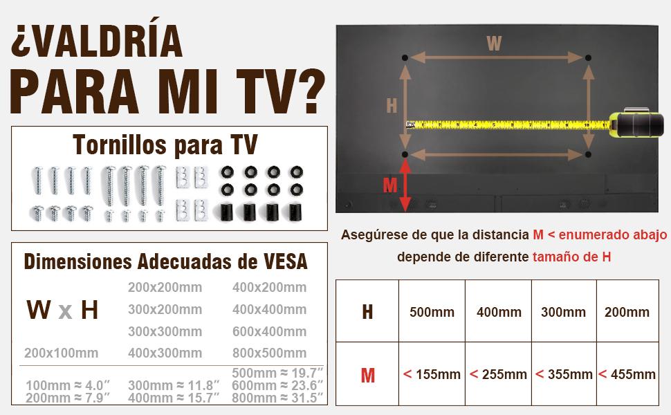 RFIVER Soporte TV Universal de Mesa para Television LCD LED OLED QLED de 20 a 65 Pulgadas UT3001X: Amazon.es: Electrónica