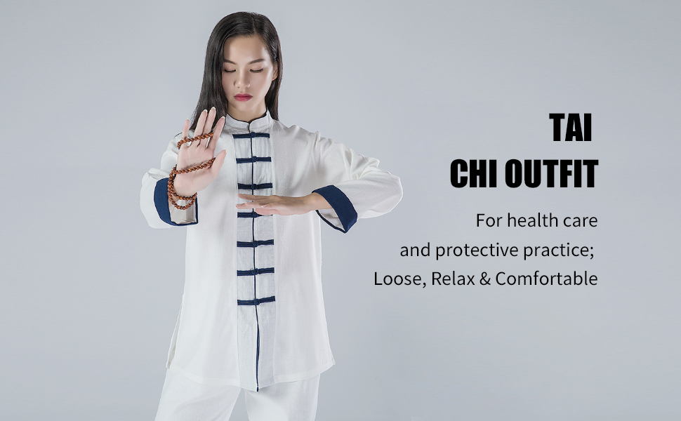Amazon.com: KSUA Womens Martial Arts Uniform Tai Chi Suit ...