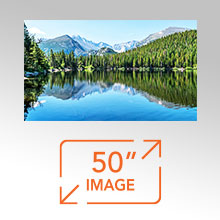 Up To 50 Inch Image Size