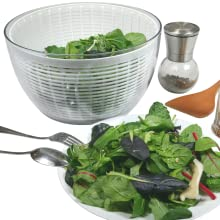 Brieftons QuickDry Salad Spinner - clean dry salad