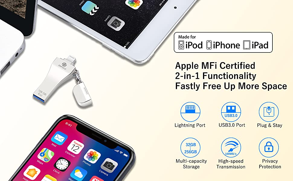 iphone lightning storage drive iphone backup memory ios android flash drive storage apple certified