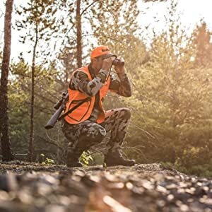 Hunter with multiple Bushnell products