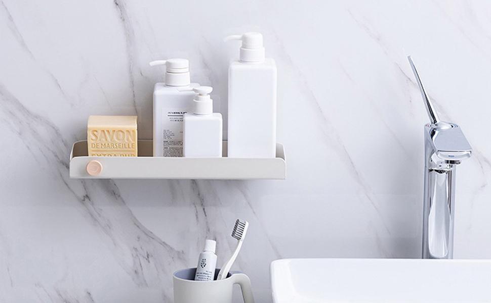 Bathroom wall-mounted shelf