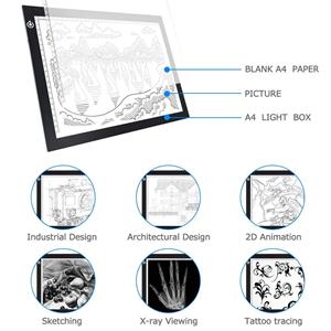 OOWOLF Tableta De Luz, Mesa de Luz Dibujo A4 Brillo Ajustable LED ...