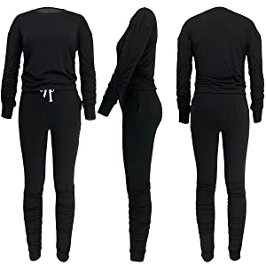 2 Pieces Outfit for Women Plus Size Sweatsuit Set Jogging Suits Sets Tracksuit 2 Piece Sweat Suit
