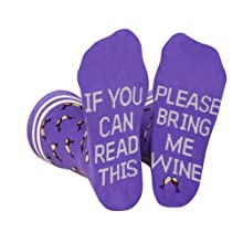 bring get me wine socks men women gift wine lover novelty fun