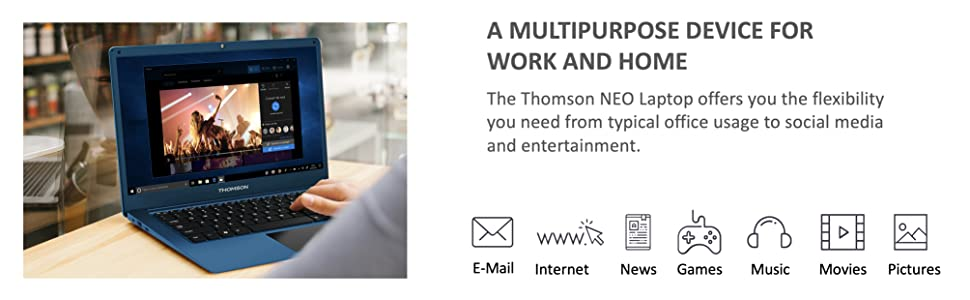 a multimedia device for work and home, email, social media, games, movies, pictures, music and more