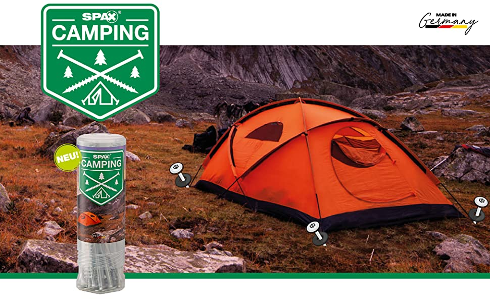 Die SPAX Zeltschraube für den Campingbereich – Ihr bester Begleiter bei Outdoor-Aktivitäten.