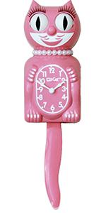 pink kit cat klock clock clocks