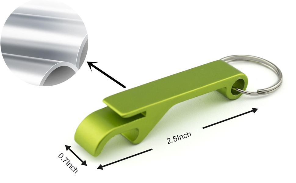 /'Amstel Light/' Bottle Opener Key Ring Red Aluminum  Brand New