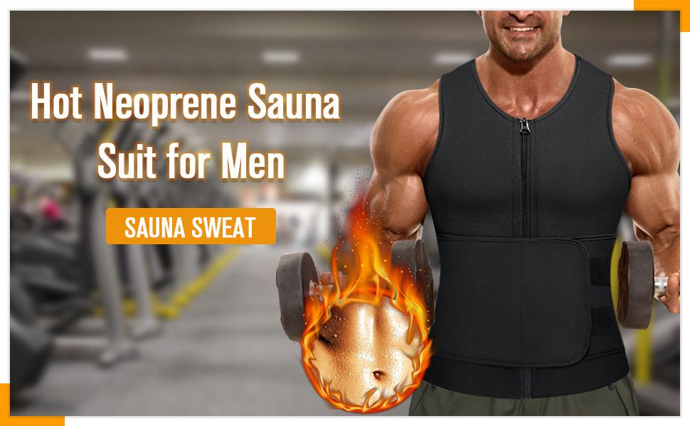 Herren Fitness Gürtel Bauchgürtel Abnehmen Verstellbarer Neopren Sauna Gürtel
