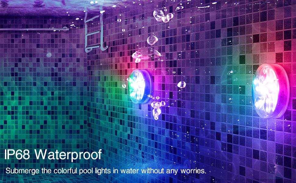 IP68 waterproof pool lights