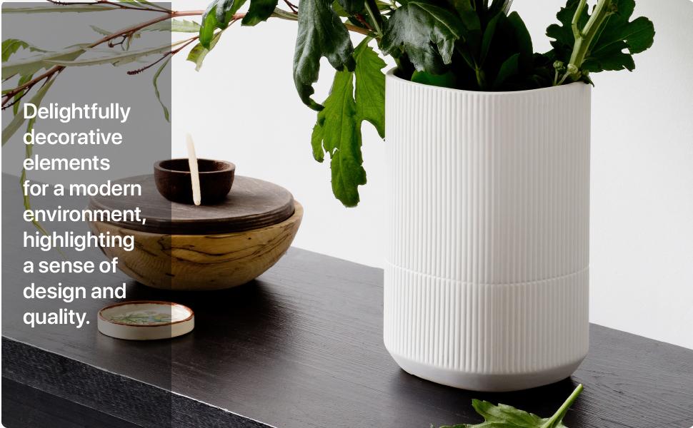White Textured Vase