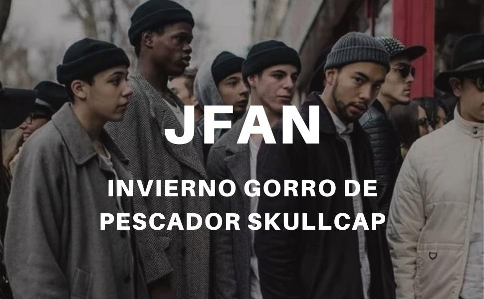 JFAN Gorro Docker de Punto Forro Polar Beanie de Lana Gorro con Vuelta Sombreros C/álidos de Invierno Gorro de Pescador Skullcap