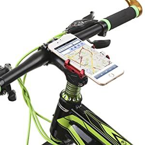 Lixada Mountian Bike Teléfono Montar Universal Ajustable de Bicicletas de Teléfono Celular GPS Montar Soporte de Soporte Abrazadera de la Horquilla (Verde): Amazon.es: Electrónica