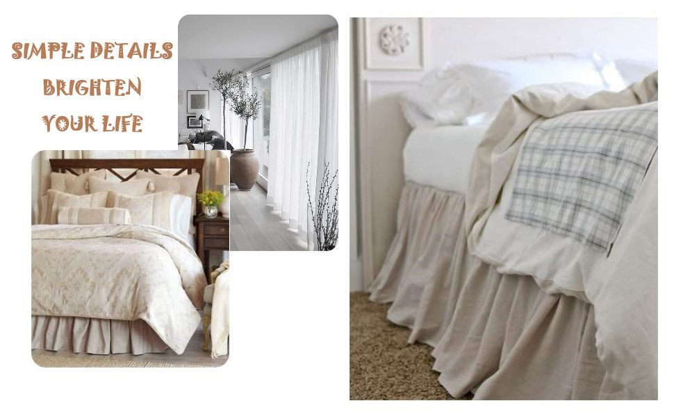linen bed skirt