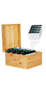 600 Index Card Holder Organizer(For 5 x 8 Inches Index Cards)