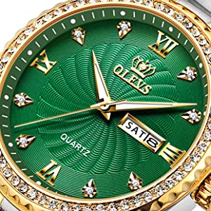 Green Diamond Watches for Men on sale clearance  Watches for Men Waterproof Cheap Calenda