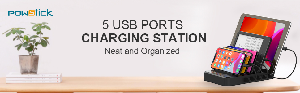Charging station for multiple devices apple andriod samsung products charging dock