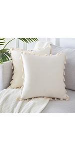 Cream Pillow Covers