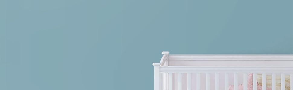 Muurbehang blauw