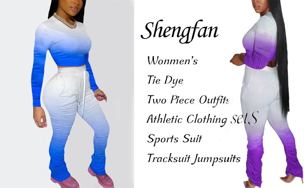 Two Piece Outfits for Women T-Shirts Bodycon Sports Suit Outfit Tracksuit Jumpsuits Sportswear Set
