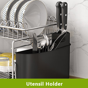 Kitchen Counter Top, Polished Anti Rust Dish Holder - Classic Bronze Coating HEOMU Over The Sink
