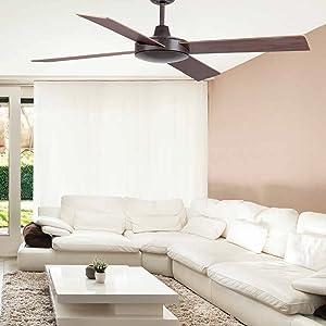 Faro Barcelona 33351 - MALLORCA Ventilador de techo sin luz, 4 ...