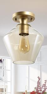 gold ceiling light