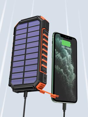 Hiluckey Solar Power Bank 26800 Mah Wireless Charger Elektronik