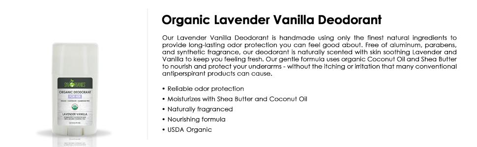 organic deodorant, deo, natural deodorant, lavender vanilla, butter deo, bio, for her, girl, women