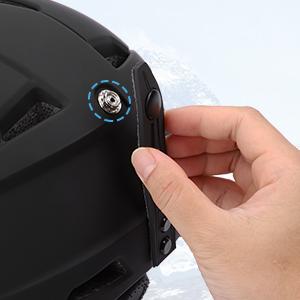 Skihelm Snowboard Helm Unisex Ski Helmet mit Visier Erwachsene Skihelm Herren Damen mit Visor 12 L/üftungs/öffnungen CE EN 1077 schwarz