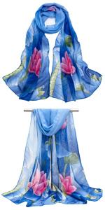 KAVINGKALY Square Satin Scarf f/ür Frauen Polka Dot Ribbon Schals 27 x 27 Zoll