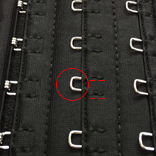 3 Row Square Hook-and-Eye Closures