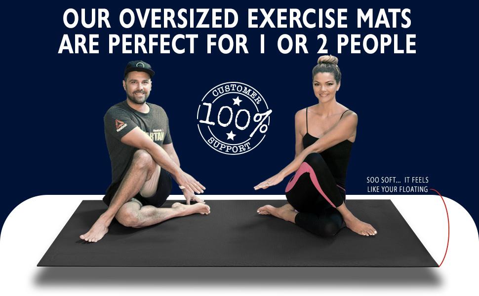 Large Black Exercise mat