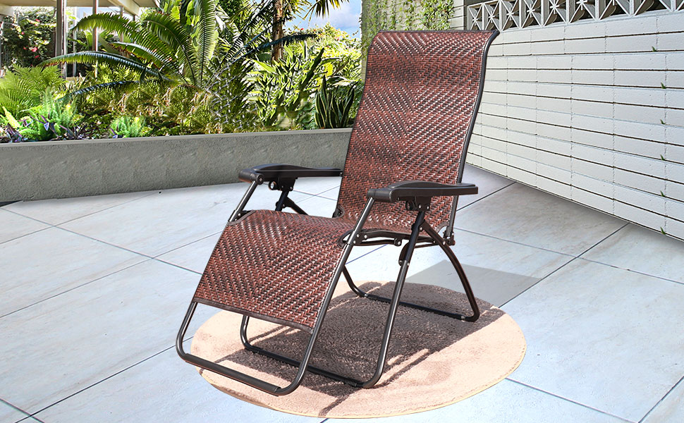 Amazon Com Goldsun Wicker Zero Gravity Folding Recliner