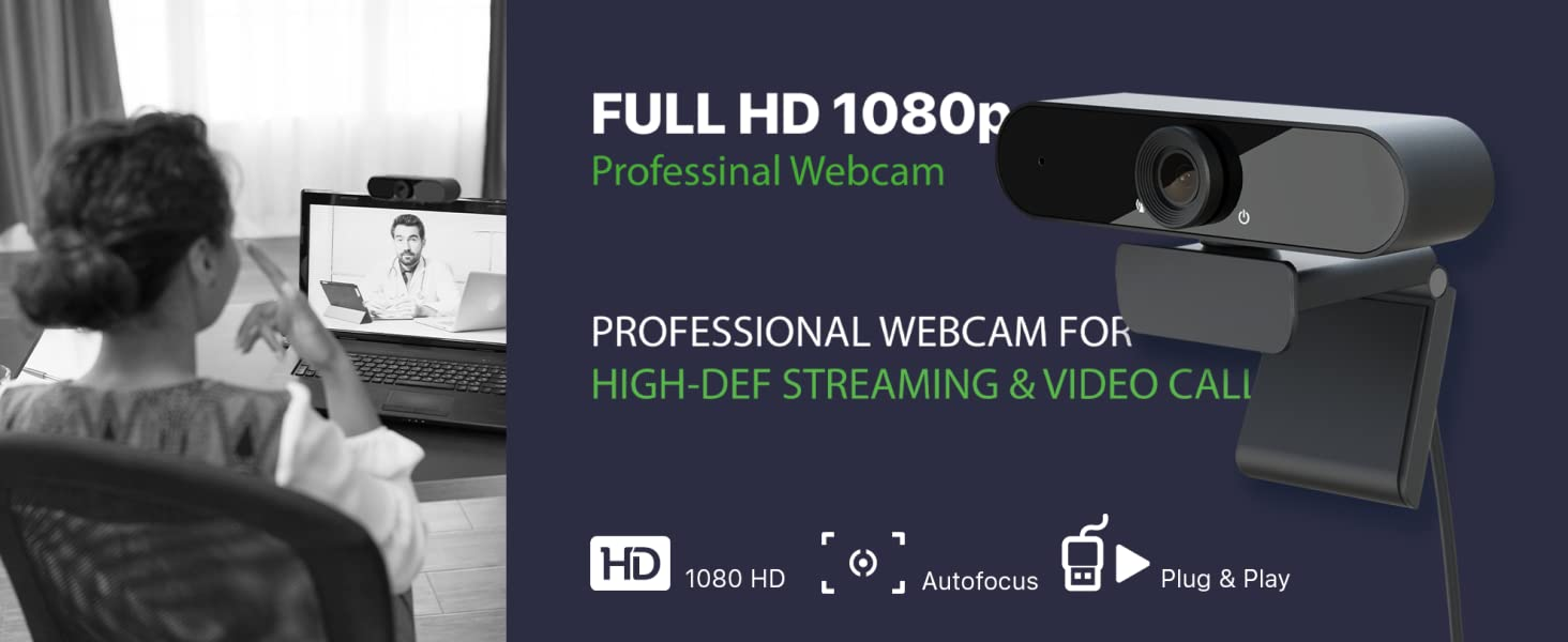 eco4life 1080p HD streaming webcam