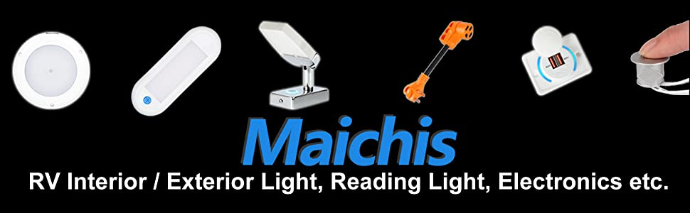 RV interior light reading lamp