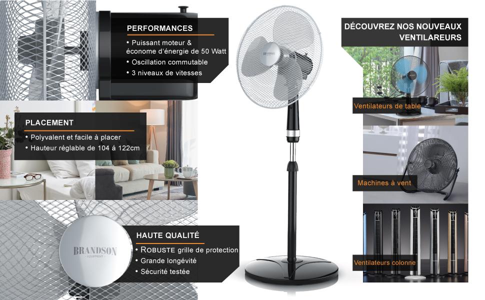 301526 ventilateur sur pied 40 cm