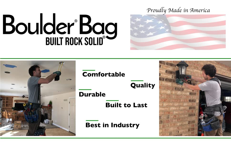 Boulder Bag Tool Belts Electrician Durable Quality Comfortable Built to Last Made in USA