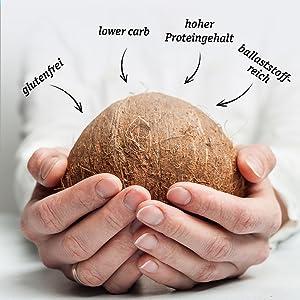 Green Organische kokosmeel OMega3 ballaststofrijk koken bakken tarwevrij glutenvrij